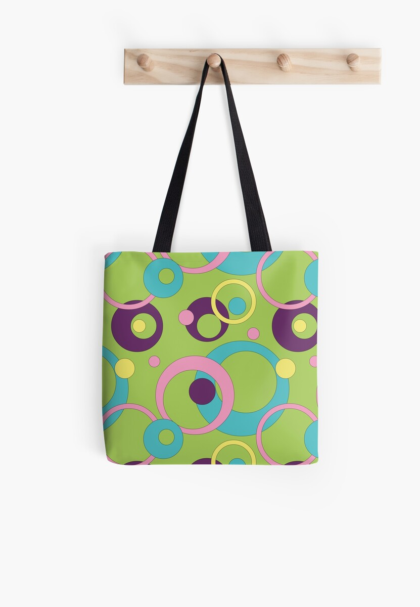 Funky Green Circles by Valerie Hartley Bennett