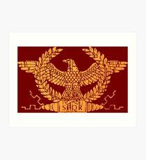 Roman Empire Flag Standard Art Print