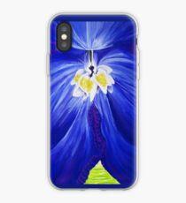 Delphiniumblume kobaltblaue Blumenmalerei iPhone-Hülle & Cover