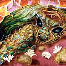 Mosaic Turtle and half a shell: Digital version by Alma Lee