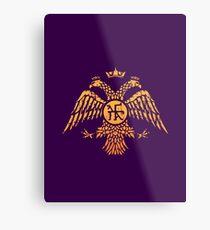 Lienzo metálico Bandera de símbolo de águila bizantina