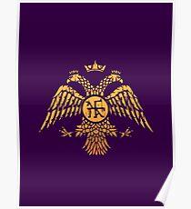 Byzantine Eagle Symbol Flag Poster