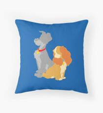 Two hounds Throw Pillow