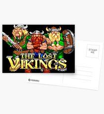 The Lost Vikings (Genesis Title Screen) Postcards