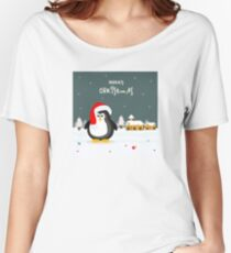 Penguin Snowy Christmas Gifts Women's Relaxed Fit T-Shirt