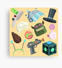 Sci Fi Objects Canvas Print