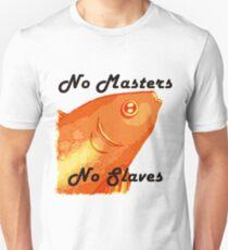 No Masters No Slaves Fish T-Shirt
