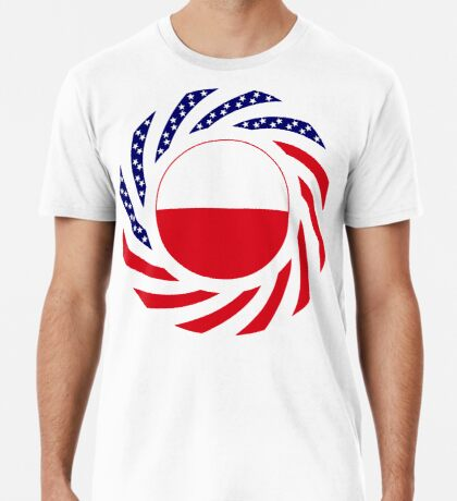 Polish American Multinational Patriot Flag Series Premium T-Shirt