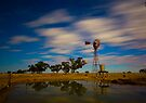 Wind Mill Moonlight by Murray Wills
