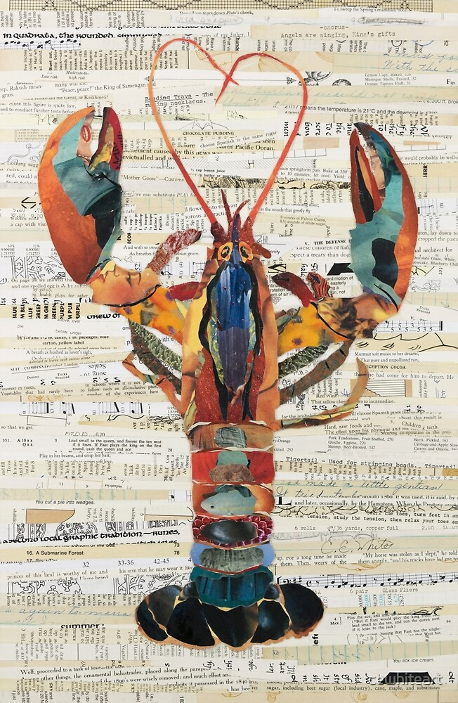Lobster Collage by C.E. White  by cewhiteart