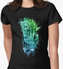 Enchanted Forest Design- Green/Blue Women's Fitted T-Shirt