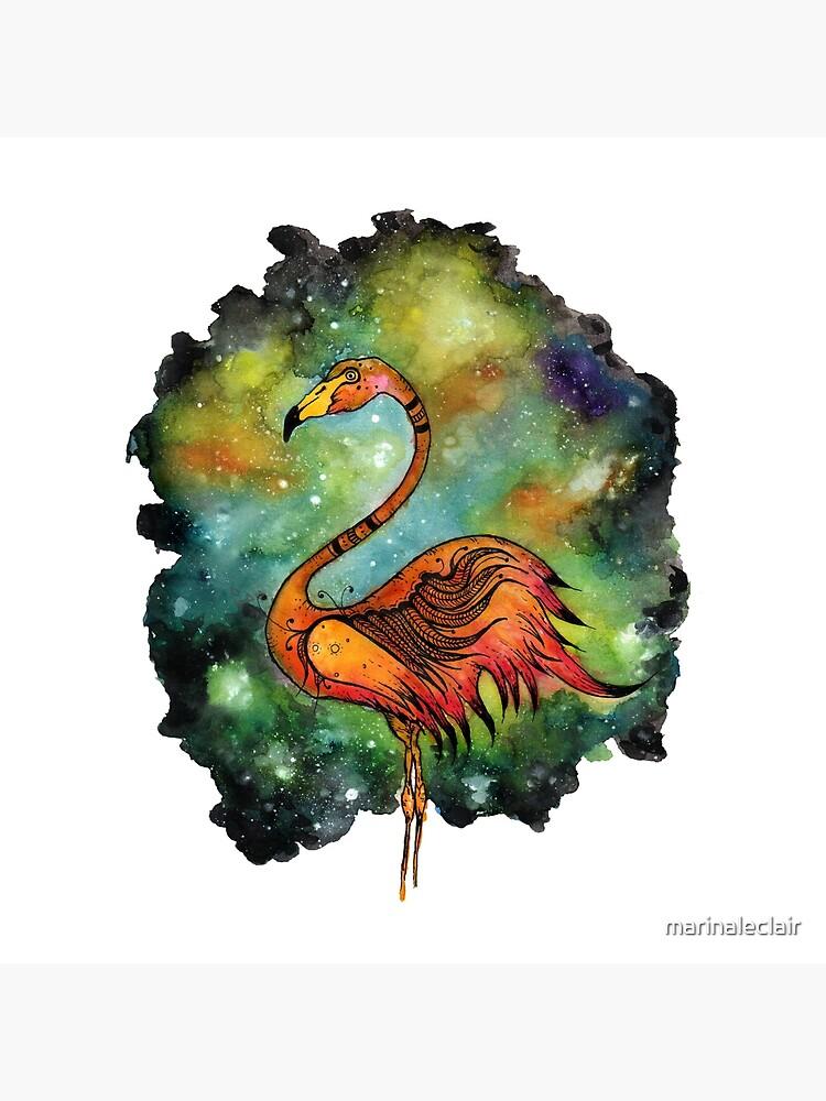Galactic Flamingo  by marinaleclair
