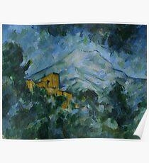 Mont Sainte-Victoire and Chateau Noir by Paul Cezanne Poster