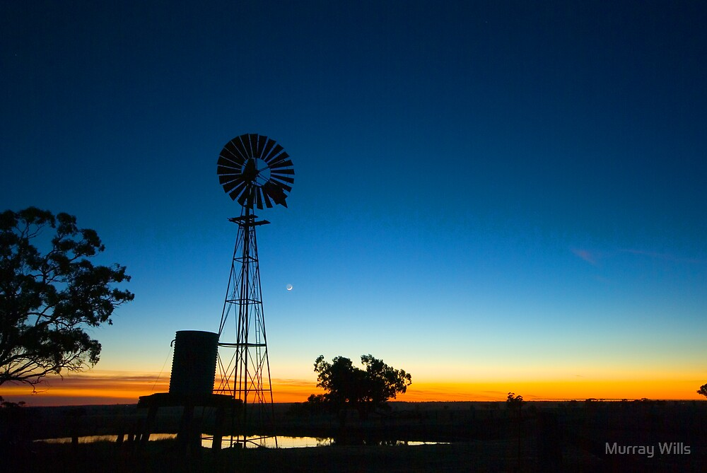 Wind Mill Morning by Murray Wills