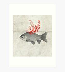 Flying Goldfish Art Print
