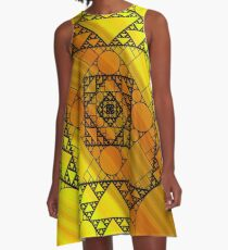 Fractal Geometry A-Line Dress