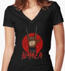 Slasher Women's Fitted V-Neck T-Shirt