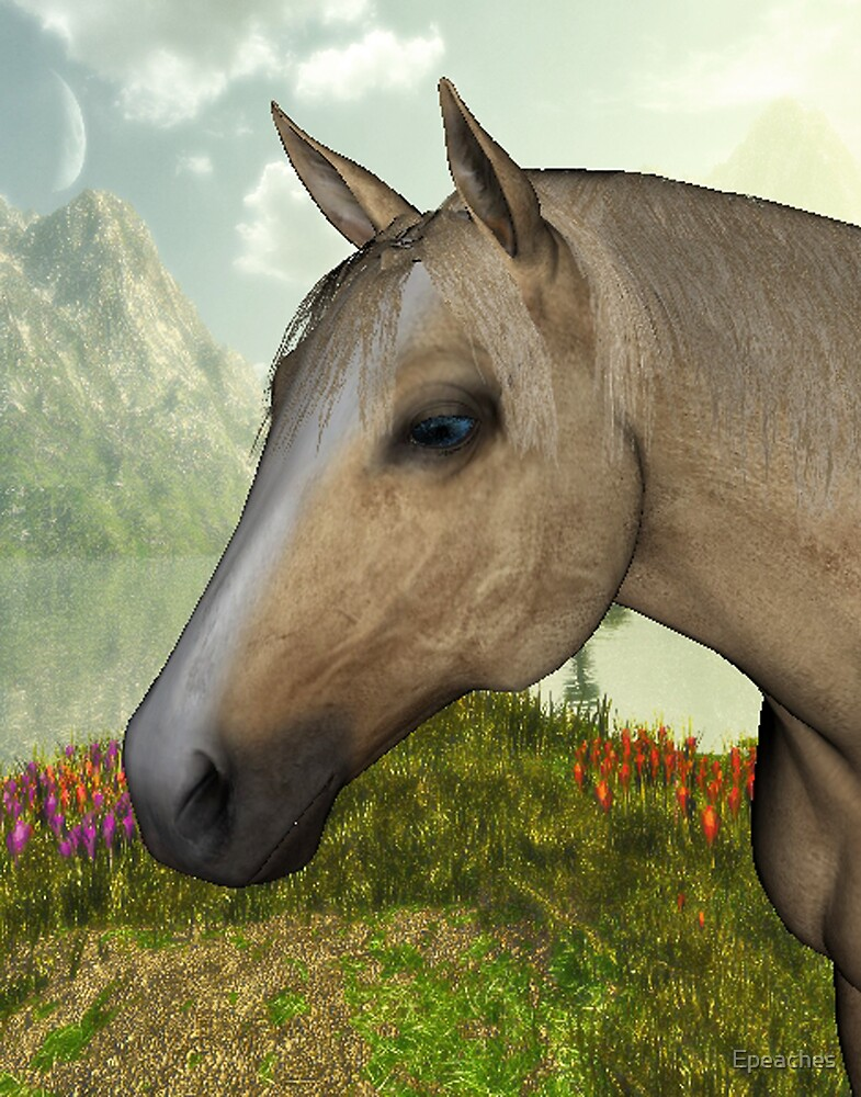 Pasture Horse by Epeaches