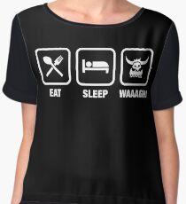 Eat Sleep Waaagh! Orks Warhammer 40k Inspired - Gaming Women's Chiffon Top