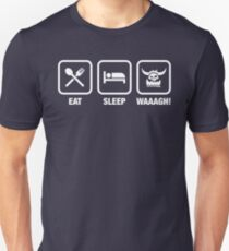 Eat Sleep Waaagh! Orks Warhammer 40k Inspired - Gaming T-Shirt