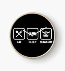 Eat Sleep Waaagh! Orks Warhammer 40k Inspired - Gaming Clock