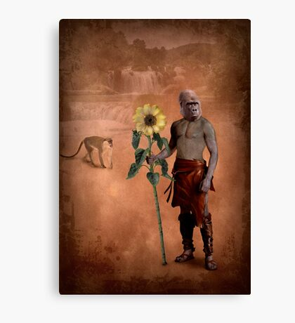 The man who loved flowers and apes Canvas Print