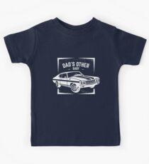 Dad's Other Baby Classic Car Lover, Muscle Car Lover Print for Fathers Kids Tee