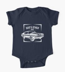 Dad's Other Baby Classic Car Lover, Muscle Car Lover Print for Fathers Kids Clothes