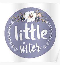 Little Sister Blue Poster