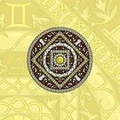 Gemini Mandala by Valerie Hartley Bennett