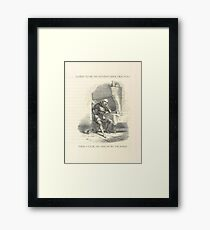 I used to be an Adventurer like you... Framed Print