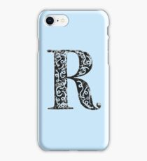 Serif Stamp Type - Letter R iPhone Case/Skin