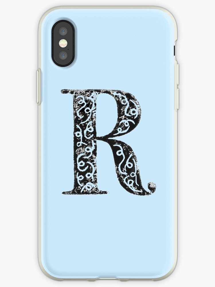 'Serif Stamp Type - Letter R' iPhone Case by Nicolette Seeback