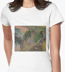 The Flageolet Player on the Cliff by Paul Gauguin Women's Fitted T-Shirt