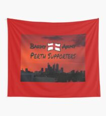 BAPS red - special design for Perth based fans Wall Tapestry