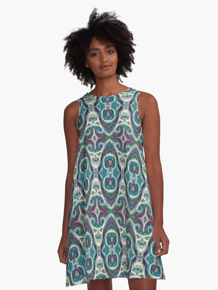 Favorite Fall Damask A-Line Dress Front