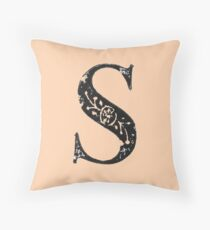Serif Stamp Type - Letter S Throw Pillow