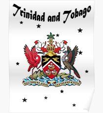 Drapeau de la Trinité-et-Tobago - Armoiries - Paradis Poster