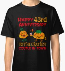 43rd Wedding Anniversary T-Shirt For Couples On Halloween. Classic T-Shirt