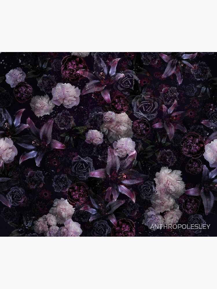 Midsummer Nights Dream #Dunkel Blumen #Midnight #Schwarz #Rose #Nacht von ANTHROPOLESLEY