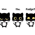 What the fudge? Surprised cat. by Sylia