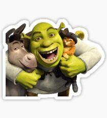 'Shrek', Donkey, and Puss in Boots Sticker Sticker