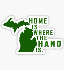 Home is Where the Hand is Sticker