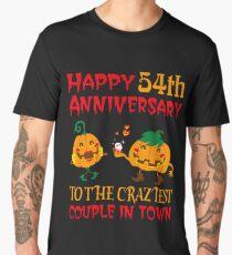 54th Wedding Anniversary T-Shirt For Couples On Halloween. Men's Premium T-Shirt