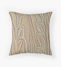 Light green and browns marbling Throw Pillow