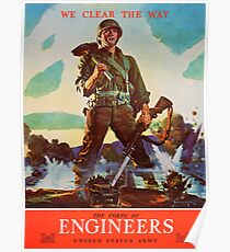 Engineers Clear the Way! Poster