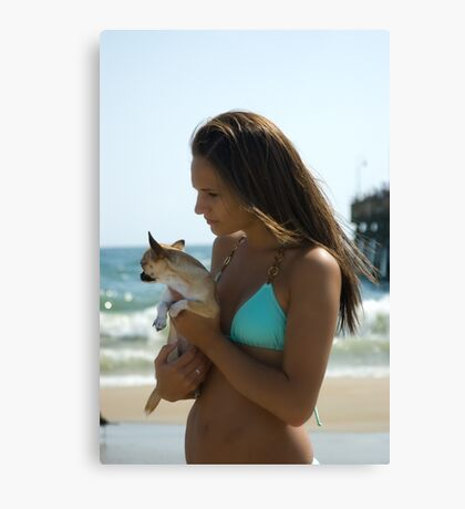 A Girl's Best Friend Canvas Print