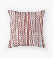 Light, grey and green and pink vertical marbled design Throw Pillow