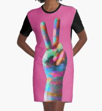 Peace Graphic T-Shirt Dress