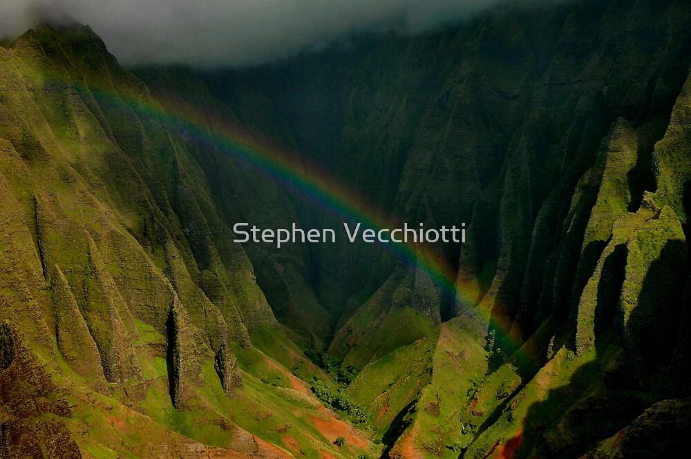 Napali Valley Rainbow by Stephen Vecchiotti